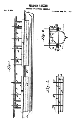 U.S. Patent 6469, Manner of Buoying Vessels, Abraham Lincoln