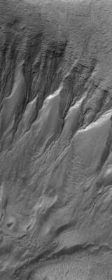 Gullies in Crater