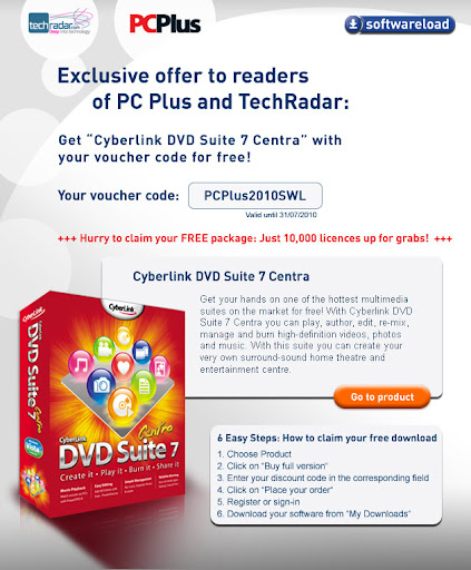 Cyberlink DVD Suite 7 Centra - 2010 July Promotion
