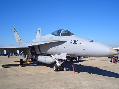 F-18 Hornet - Tail Number 406 - Front