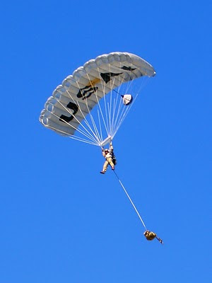 USAF CCT HALO Jump - Team Member Approaching