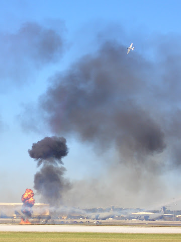 Lackland AFB Air Fest: Tora! Tora! Tora! - Airport in Smoke and on Fire