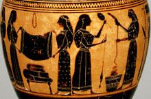 υφάντριες στην αρχαία Ελλάδα