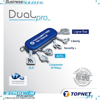 Topnet offre ADSL Tunisie Dual Pro