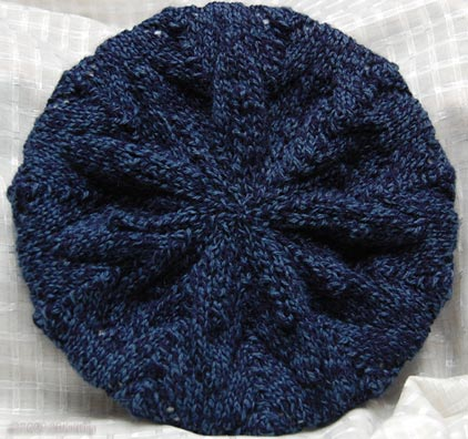 EASY BERET KNITTING PATTERN STRAIGHT NEEDLES   KNITTING PATTERN