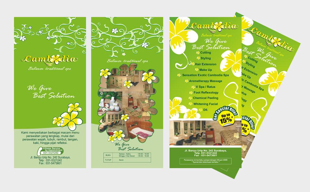 portofolio desain grafis untuk desain flyer berikut ini flyer spa