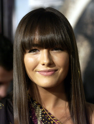 Blunt Bangs Hairstyles from Jessica Alba at
