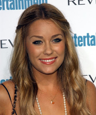 Lauren Conrad's long Hairstyles with bangs