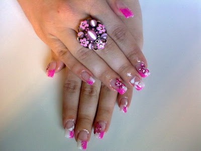 nail art and french pedicure nail art and french manicure nail art and ...