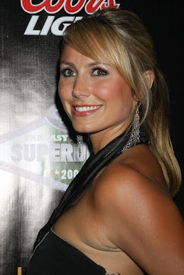 stacy keibler with skirt pulled down
