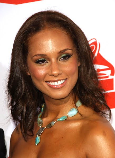 alicia keys hair. Alicia Keys#39; Wavy Hair