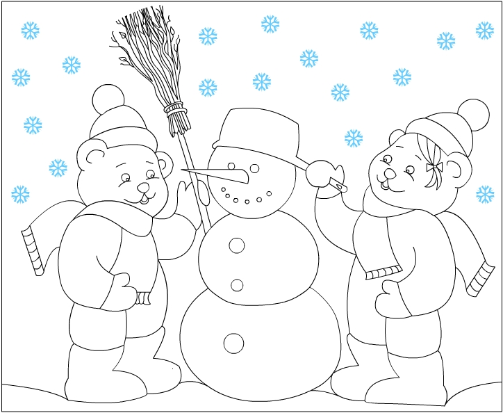 Coloring Pages Winter. Winter coloring pages