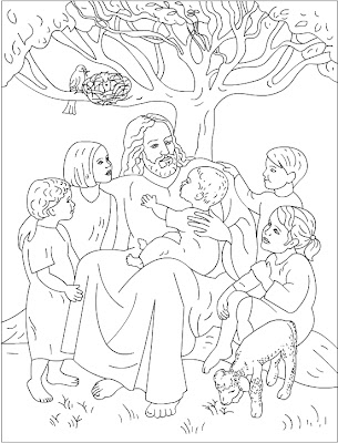 Nicole\'s Free Coloring Pages: Jesus Loves Me
