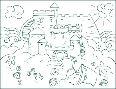 Nicole 39 s Free Coloring Pages Sandcastles