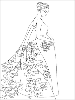 Adult Fashion Coloring Pages