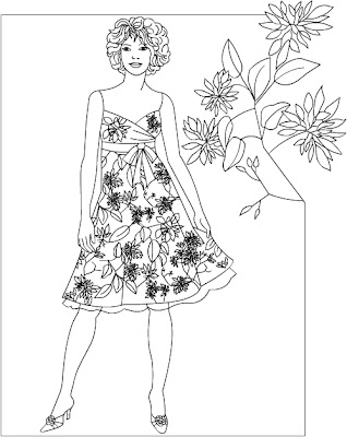 Nicole's Free Coloring Pages: Fashion * coloring page