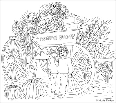 Nicole 39 s free coloring pages october 2007 for Free harvest coloring pages