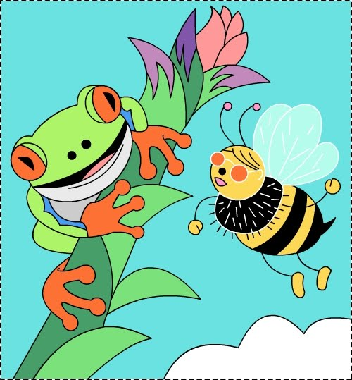 Nicole\'s Free Coloring Pages: Hi Honey! Don\'t bee a frog!