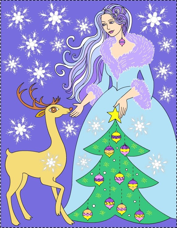 Winter Princess - coloring
