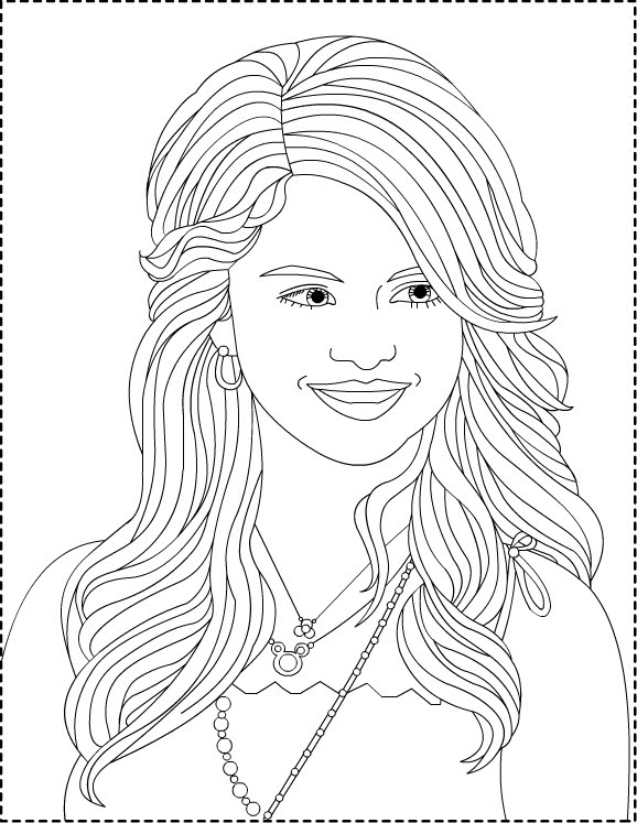 Selena Gomez *** Coloring pages title=