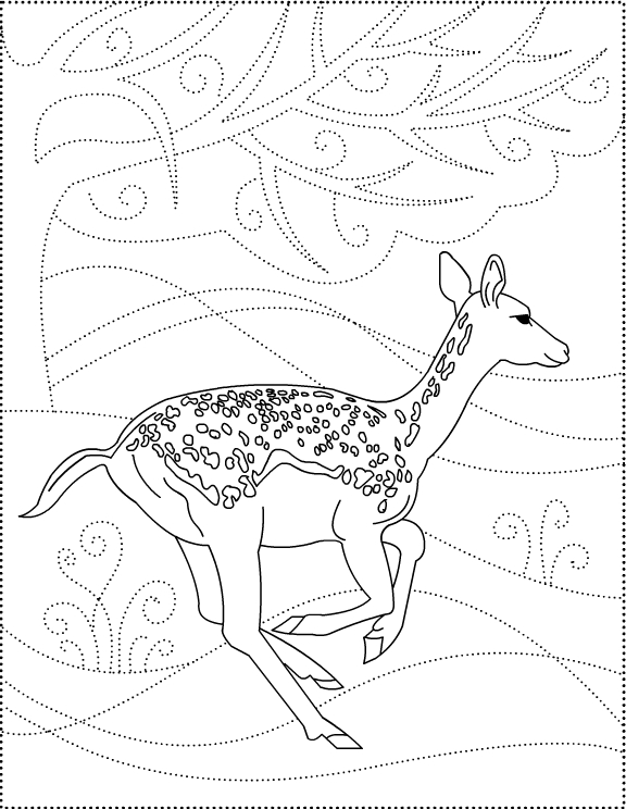 Nicole\'s Free Coloring Pages: Dear to me! Deer * coloring pages