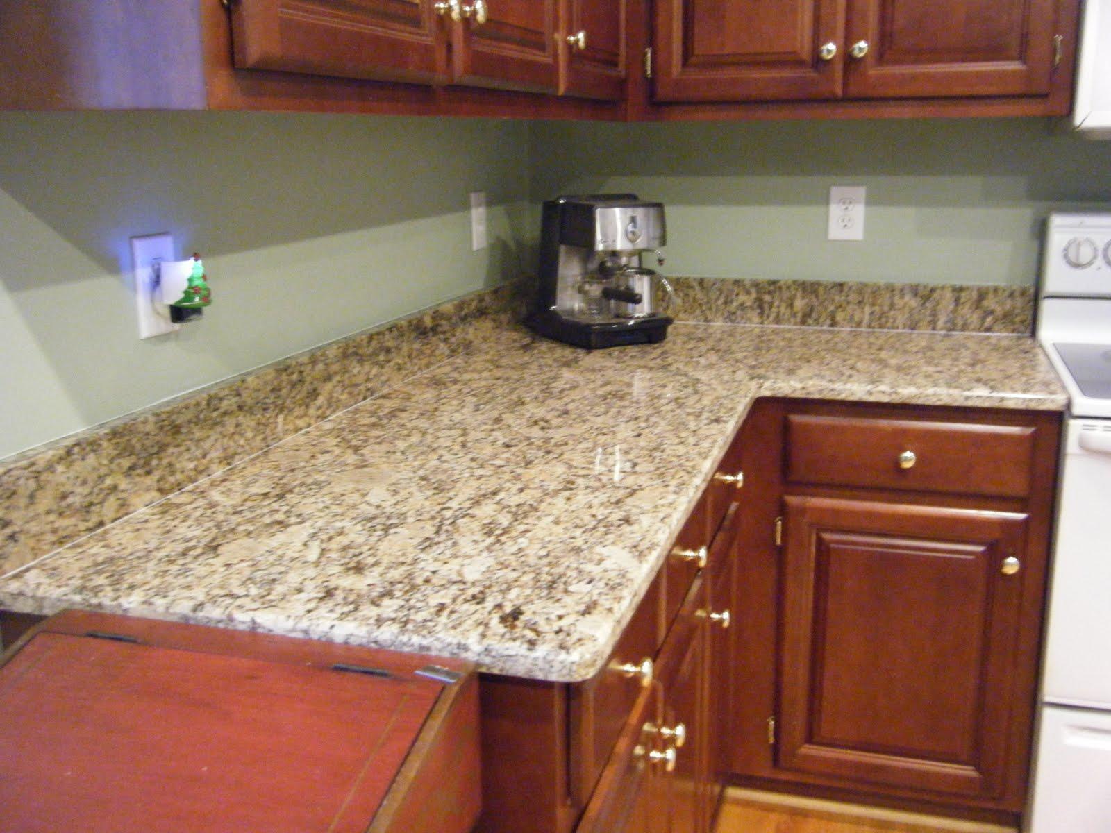 backsplash for busy counter top green walls vinyl granite paint