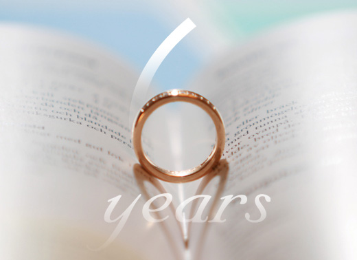 Wedding anniversary for 6 years