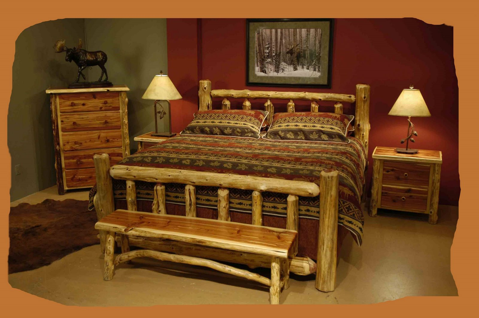 Rustic chic home decor a batty life for Log cabin style bunk beds