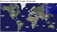 open layers: wms + google maps + virtual earth