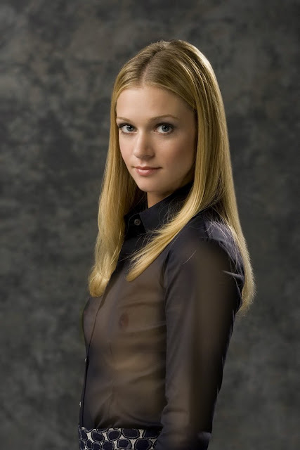 A.J. Cook see through blouse breast nipple visible