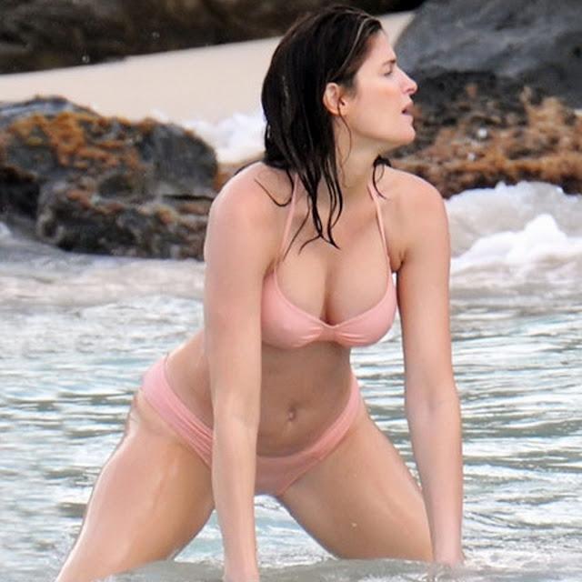 Stephanie Seymour sexy bikini candids