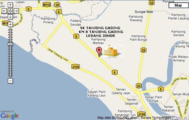 Peta SK Tanjong Gading