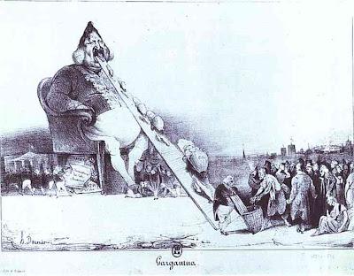 Frei nach H.Daumier - Der Regent und sein Volk