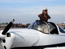jessica cox inside the plane