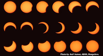 Annular Solar Eclipse 2010 Bangalore