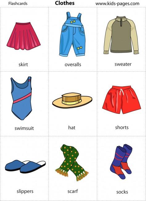 Nombres de la ropa en inglés - Imagui
