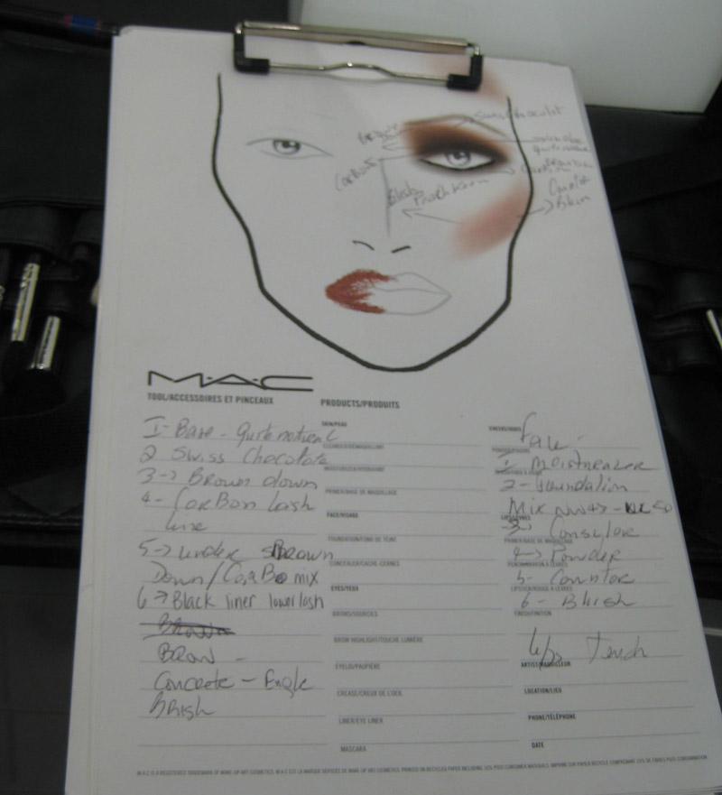 makeup practice sheet