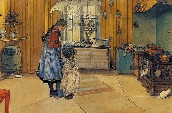 "CARL LARSSON ""Köket"" (La Cocina) Ca. 1894-97 Stockholm, Nationalmuseum"