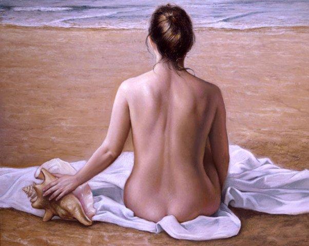 Te recordaré siempre, no por la belleza de tu cuerpo desnudo frente al mar sino por la huella de tus pisadas en la arena de mi playa