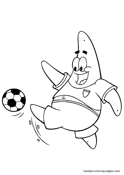 Spongebob Soccer Coloring Pages