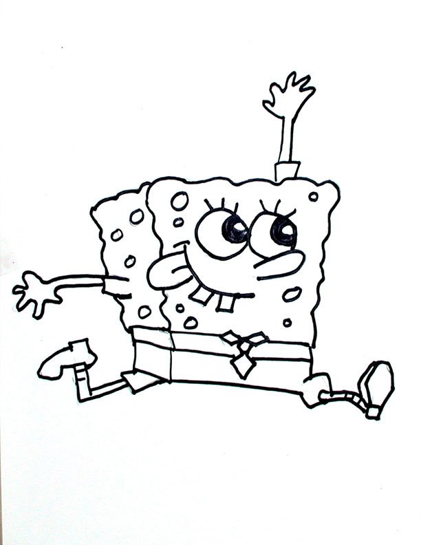 funny spongebob coloring pages