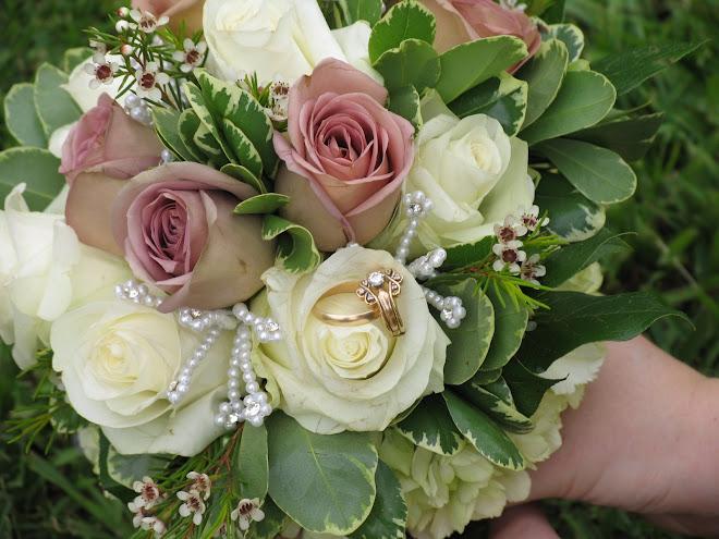Rings in her flowers