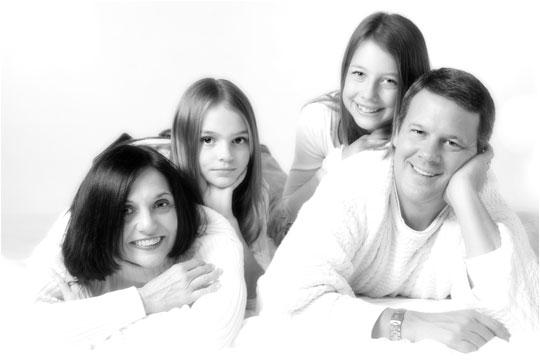 Family in the studio