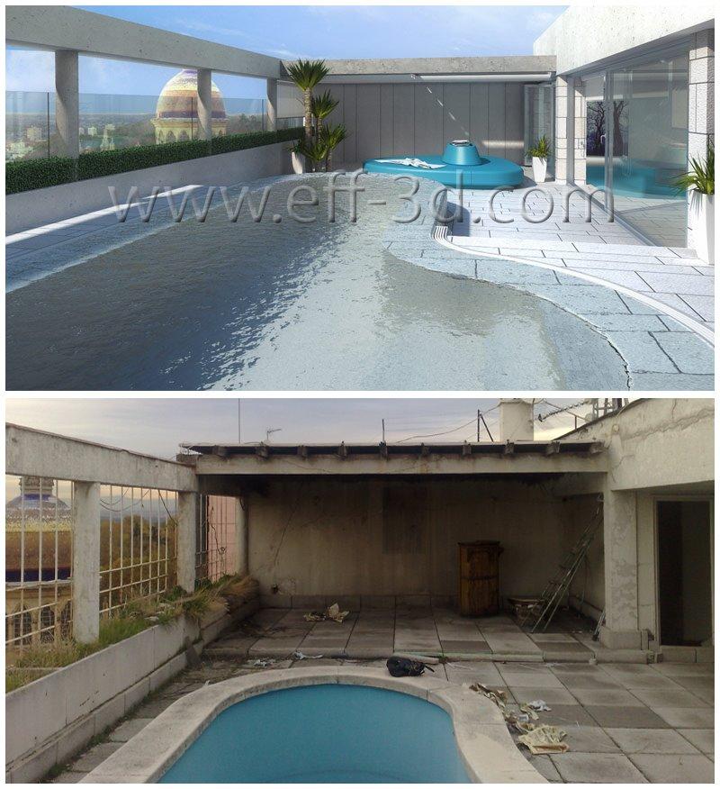 Infograf a render 3d piscina terraza atico eloy flores fernandez sevicio de infografia 3d - Piscina terraza atico ...