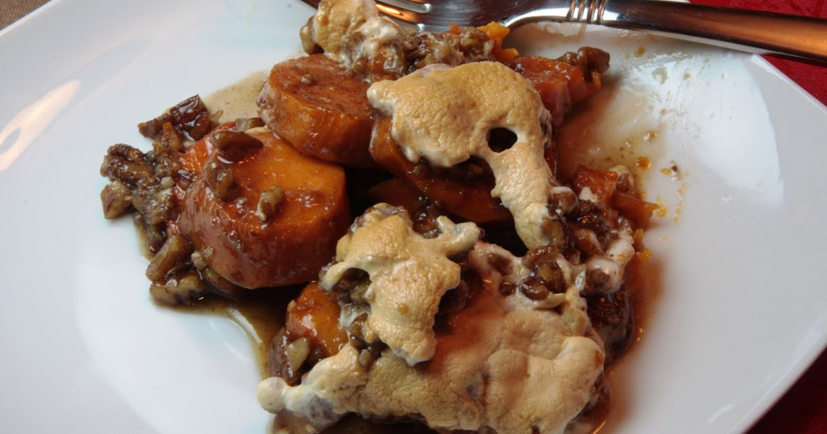 Cooking Dunkin Style: Maple Glazed Yams with Pecan Topping