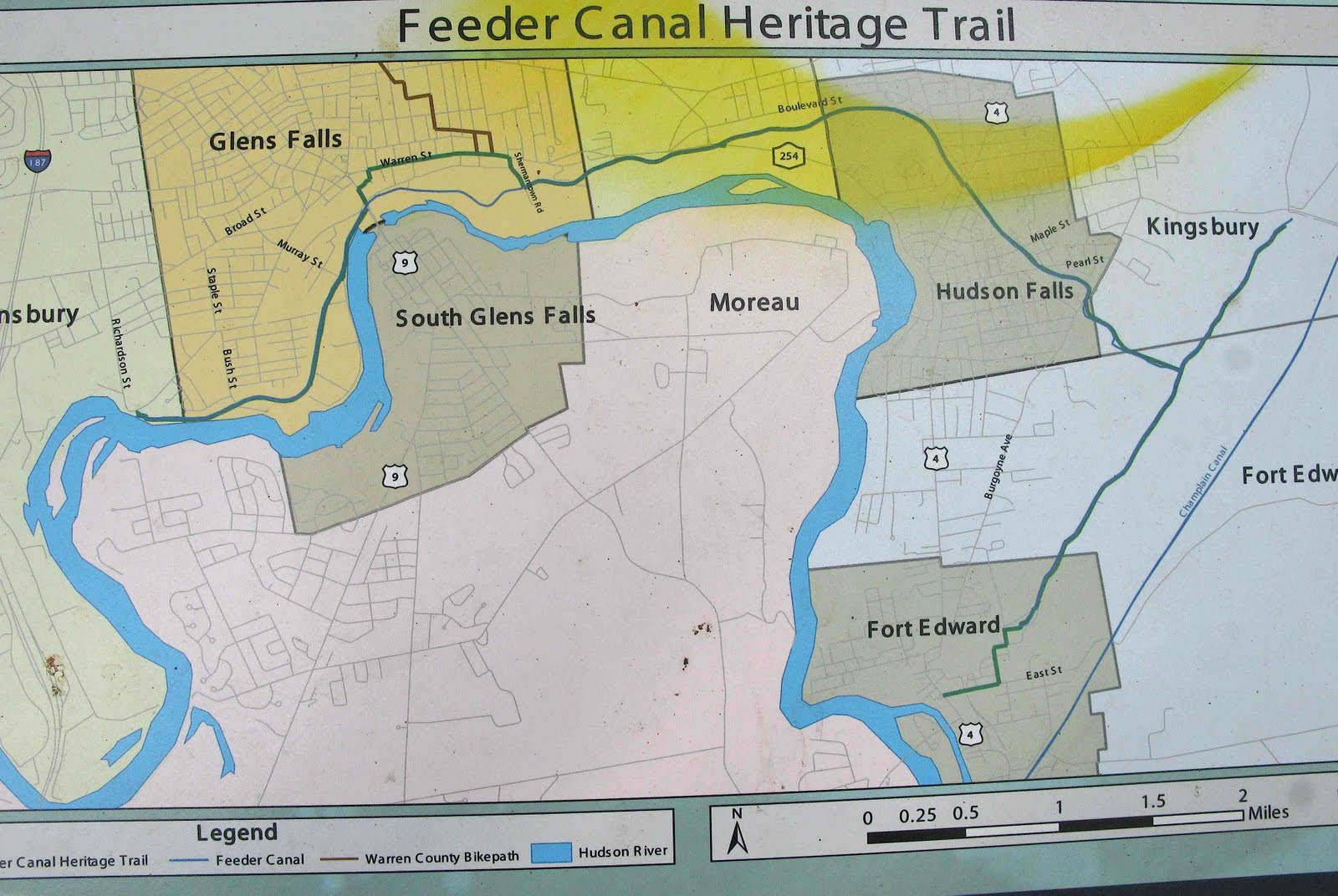 Saratoga woods and waterways: Paddling the Feeder Canalglens falls city