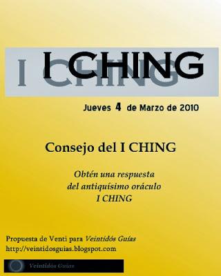 Cartel de Consejo de I CHING (I)