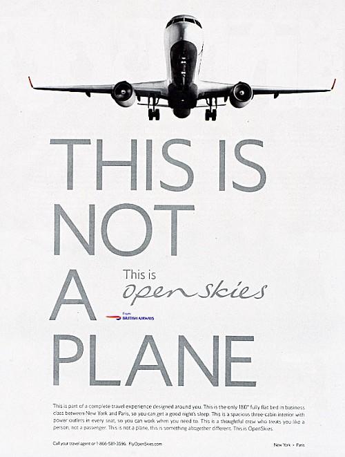 British Airways Reklamı: Bu bir uçak değildir title=