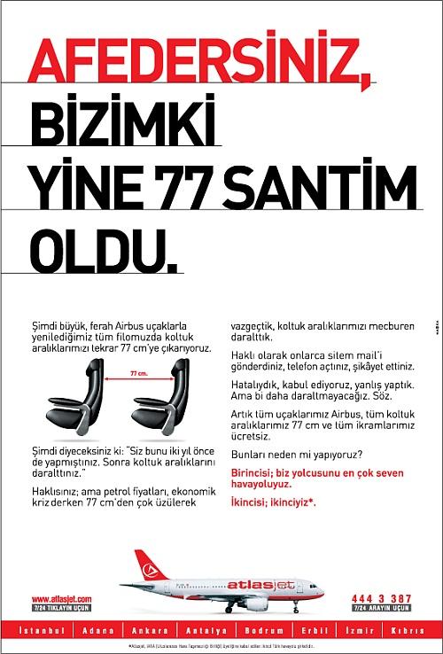 AtlasJet Reklamı: Bizimki yine 77
