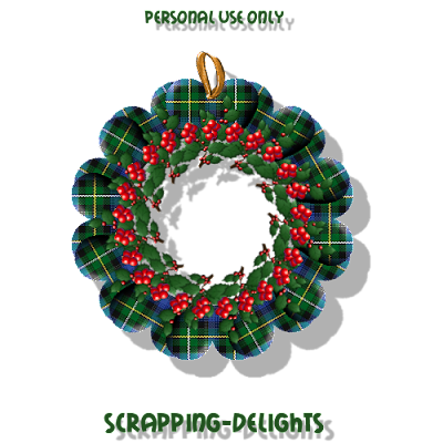 http://scrapping-delights.blogspot.com/2009/11/christmas-tartan-wreath-freebie.html